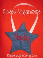 Star Pocket Closet Organizer for Each Day of the Week