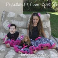 2 Pettiskirts with flower bows