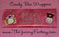 Valentine Princess Prince Candy Bar Wrapper